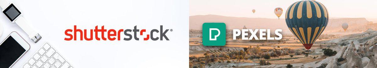 Shutterstock & Pexels Logos