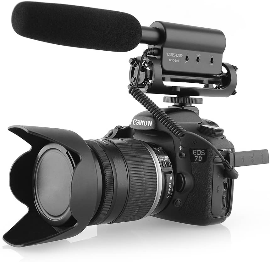 professional video setup microphone