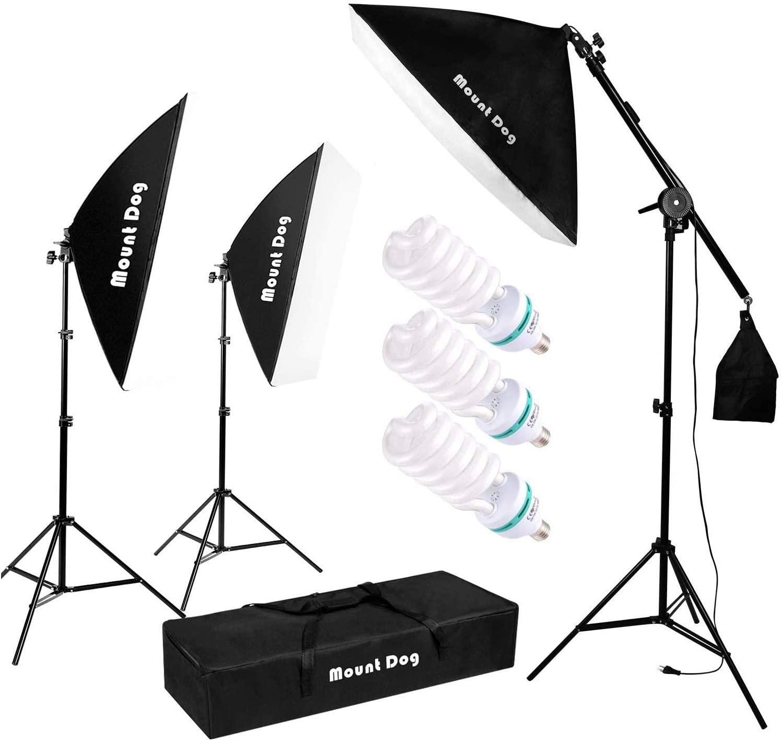 professional video setup lighting