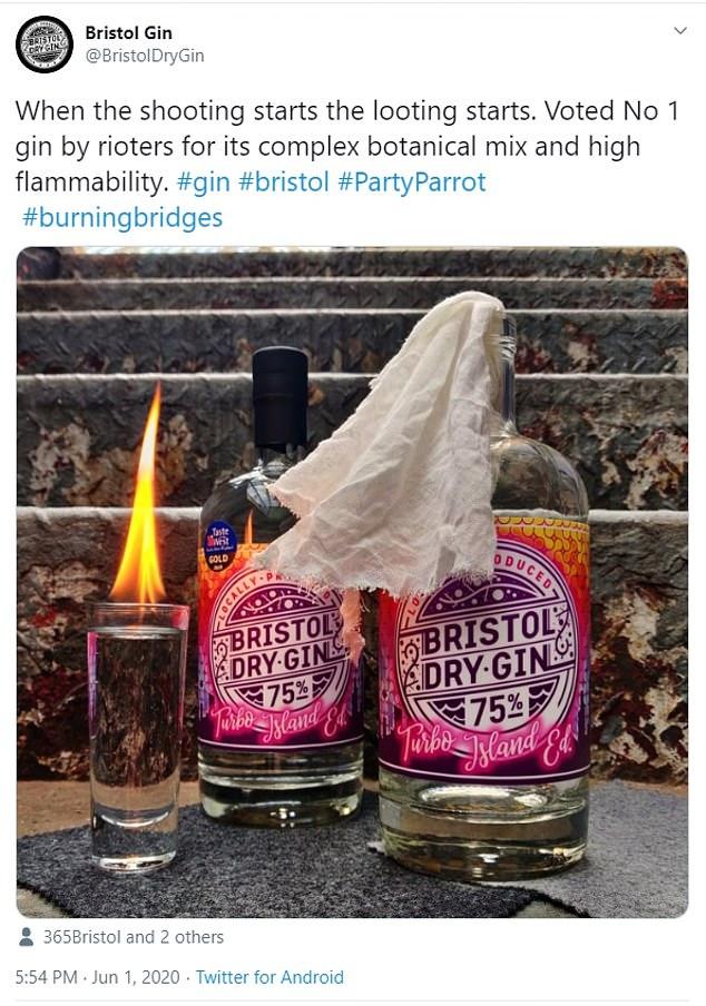 bristol dry gin controversial ad screenshot