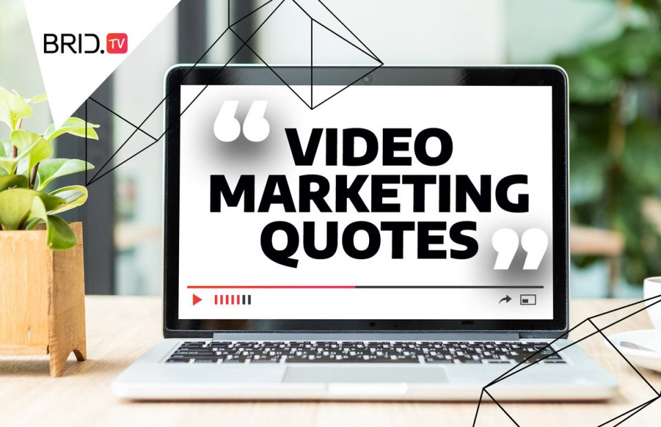 A laptop with video marketing quotes written on the screen