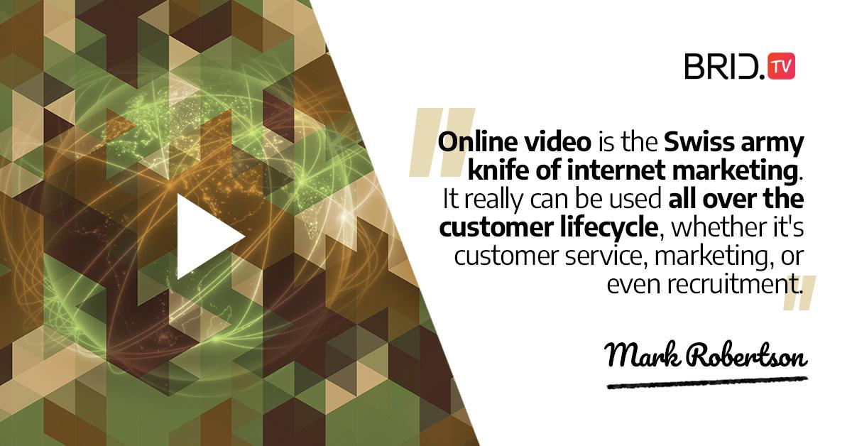 video marketing quote - mark robertson