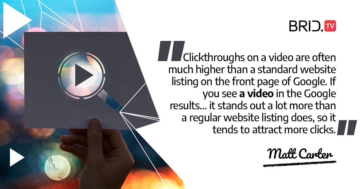 video marketing quote - matt carter
