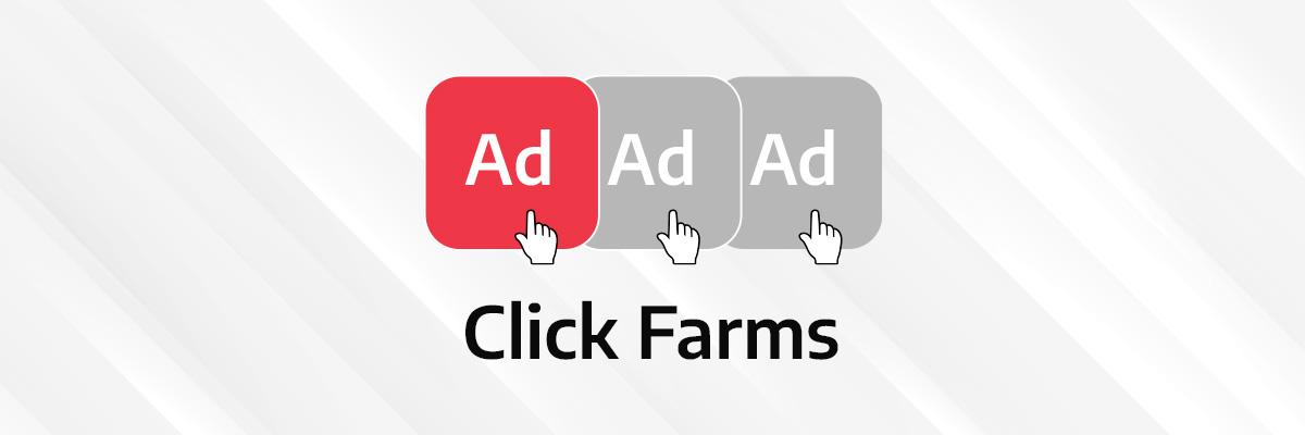 visual illustration of click farms