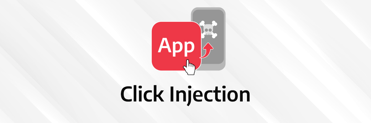 visual illustration of click injection