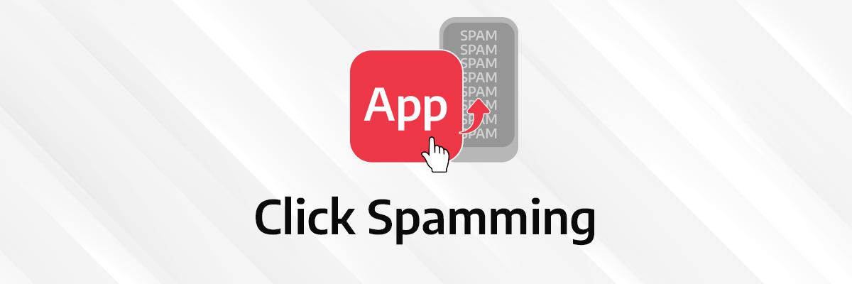 visual illustration of click spamming