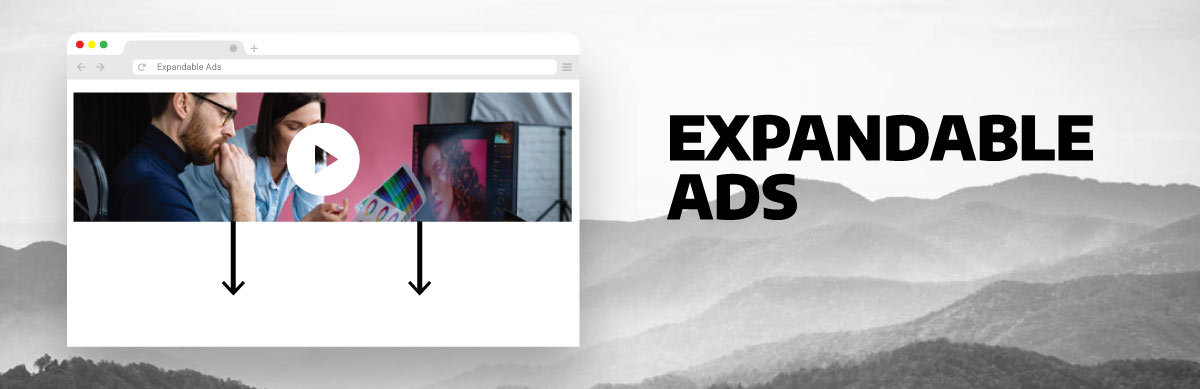 image that illustrates expandable ads