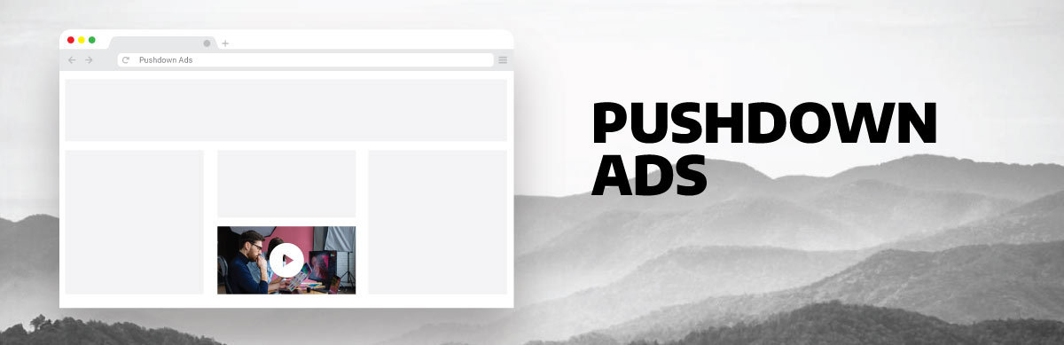 image illustrating pushdown ads