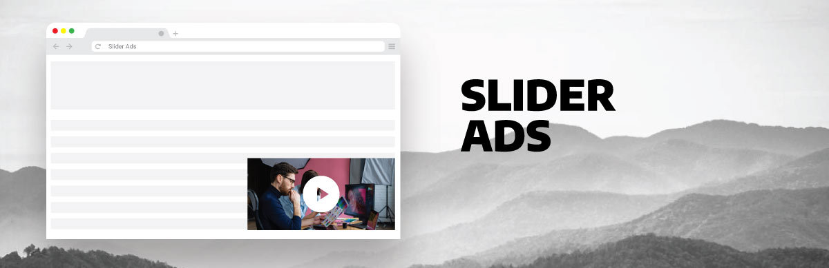 image illustrating slider ads