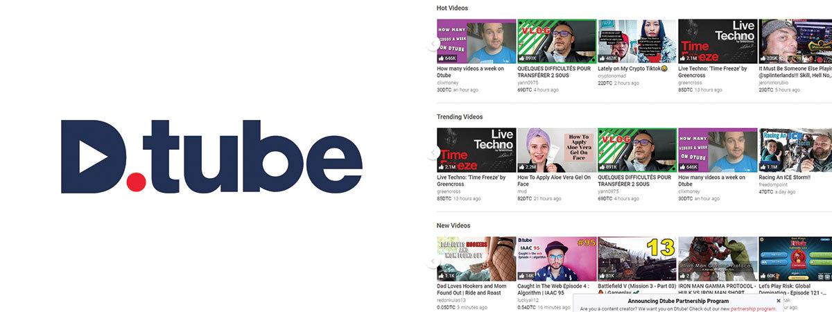 Dtube video-sharing platform logo