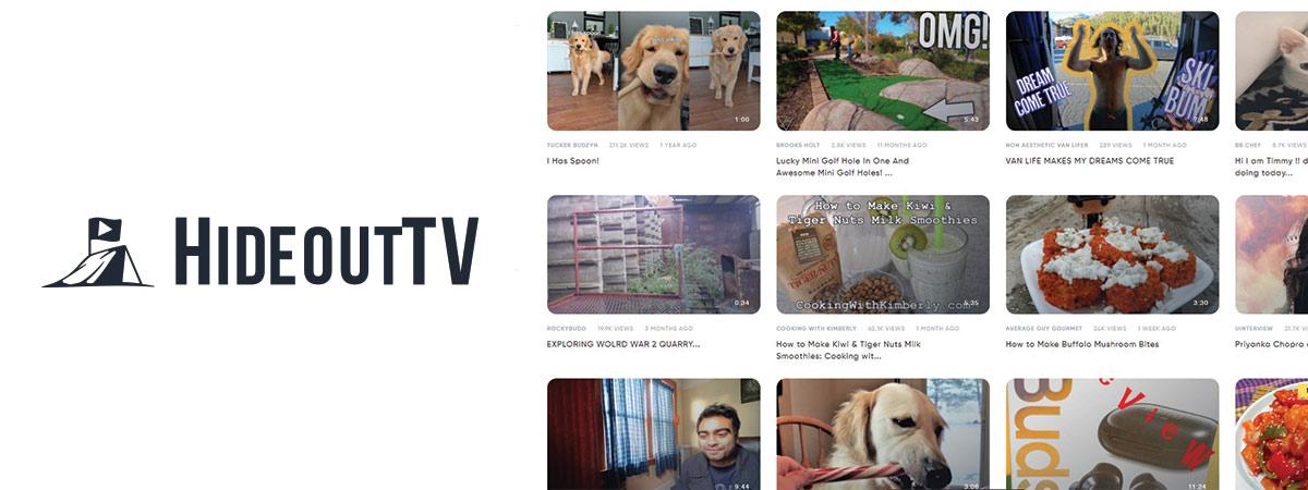 HideoutTV vide-sharing platform logo