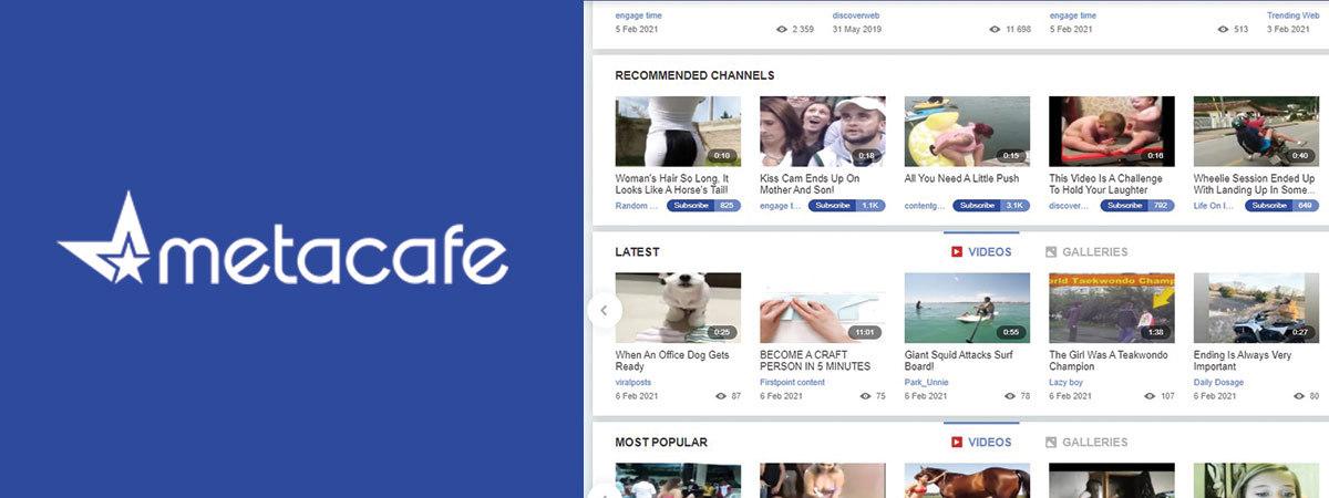 metacafe video-sharing platform logo