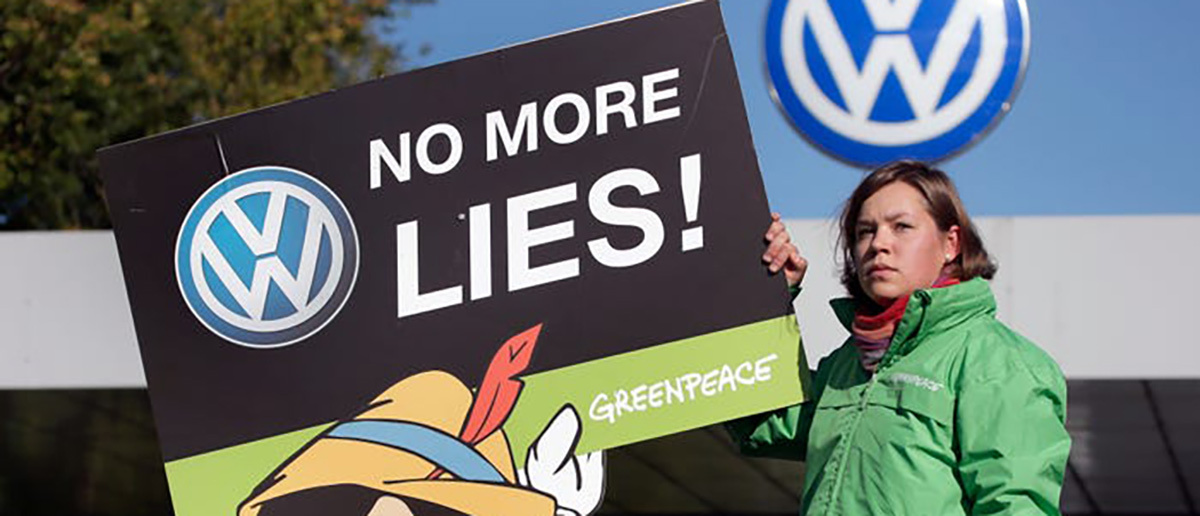 volkswagen false advertising protest
