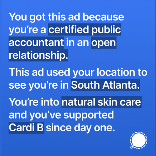 controversial signal ad example 1