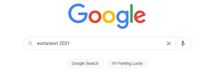 eurovision 2021 google search query