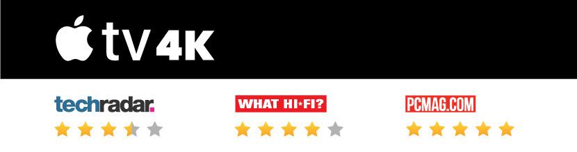 Apple TV 4K review scores
